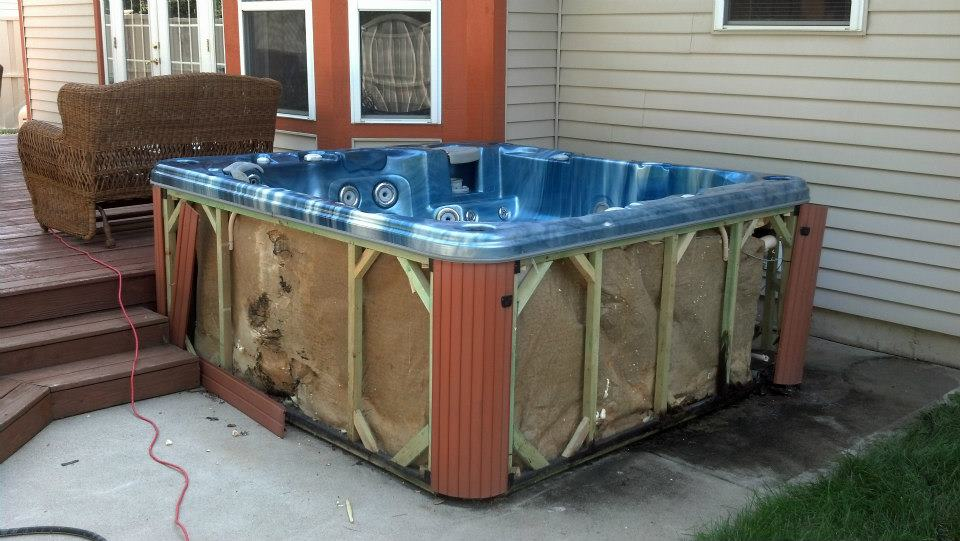 own a diy step build cheap don how to lorenzo stories hot your tub substructure the jacuzzi