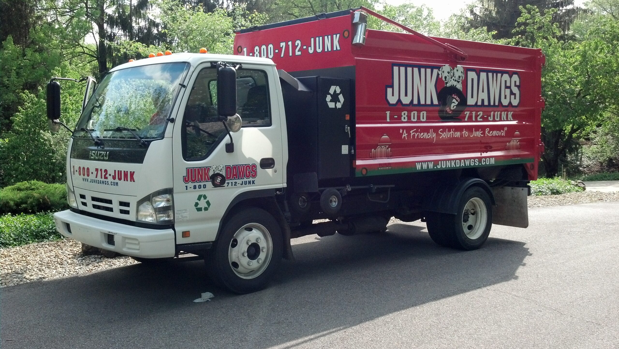 How big are junk removal trucks? |Fire Dawgs Junk Removal