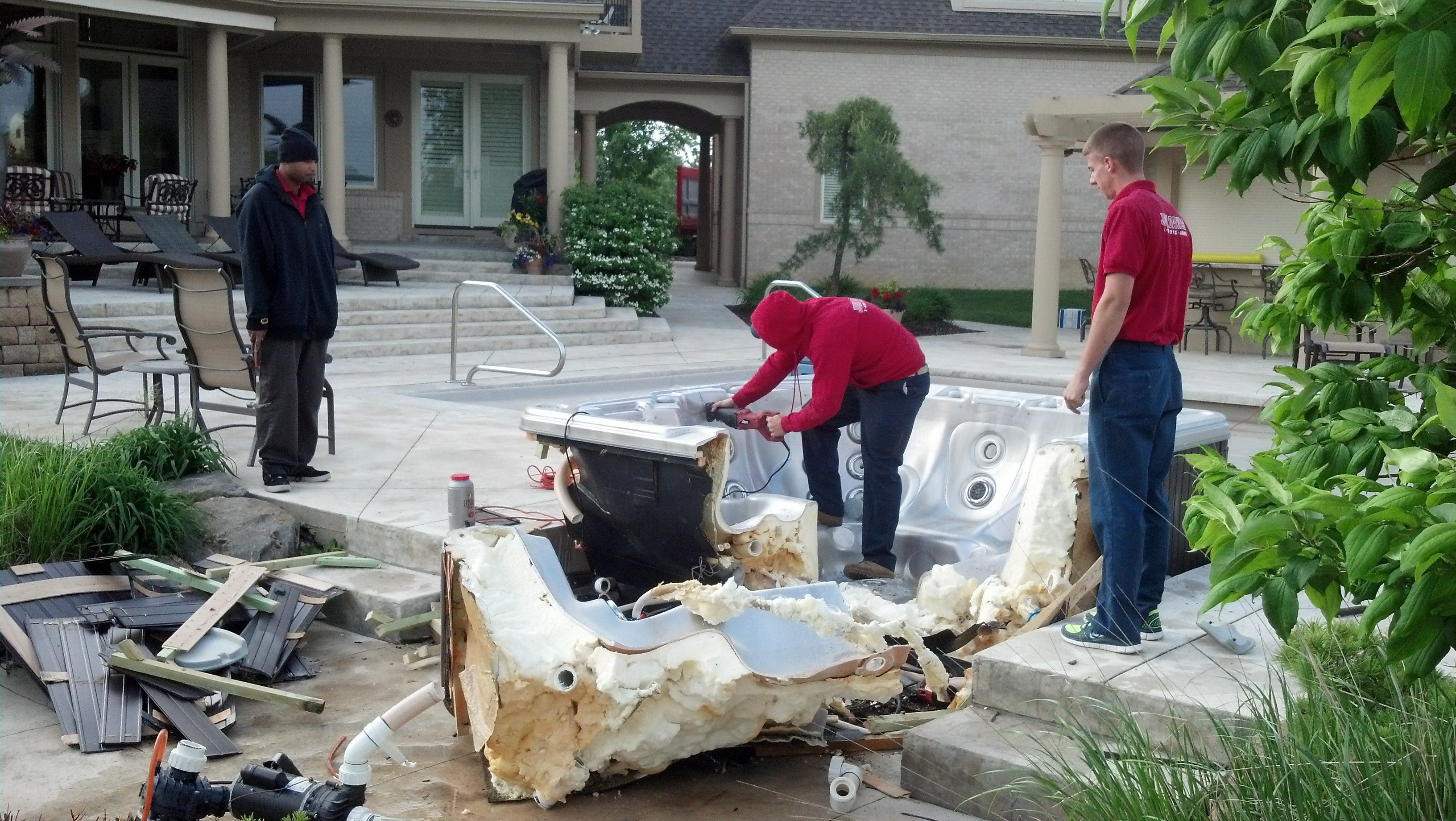 How much does it cost for hot tub removal services?- Fire Dawgs