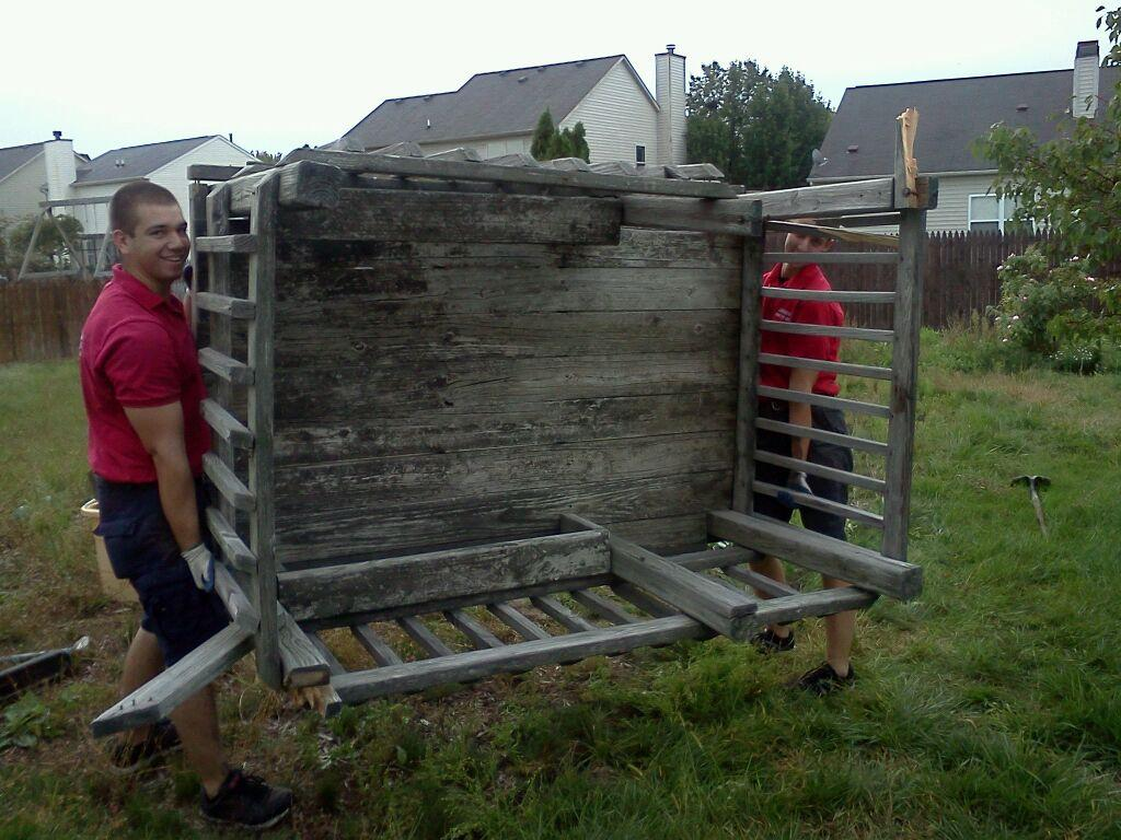 Fire Dawgs Crew providing play set removal