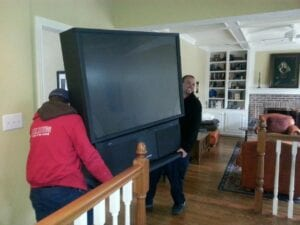 Fire Dawgs providing TV removal services in Indianapolis