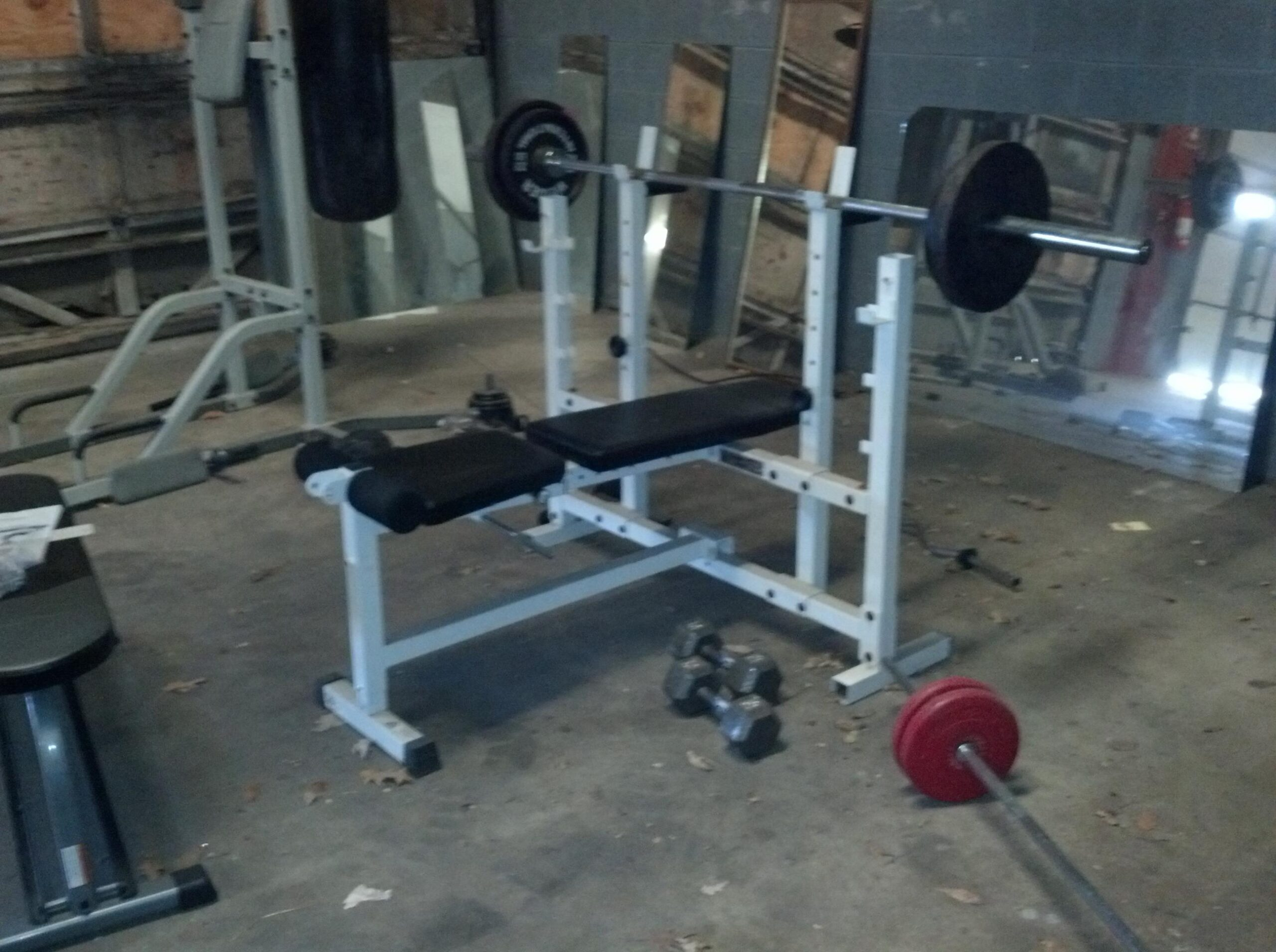 a picture of a used weight bench