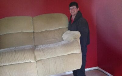 Who can pick up used furniture?