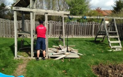 Tear Down and Haul Away Old Playset