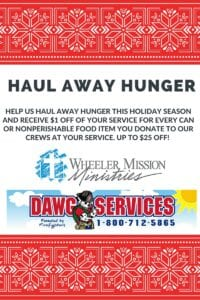 hauling for hunger food drive