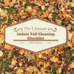 Indoor Fall Cleaning Checklist