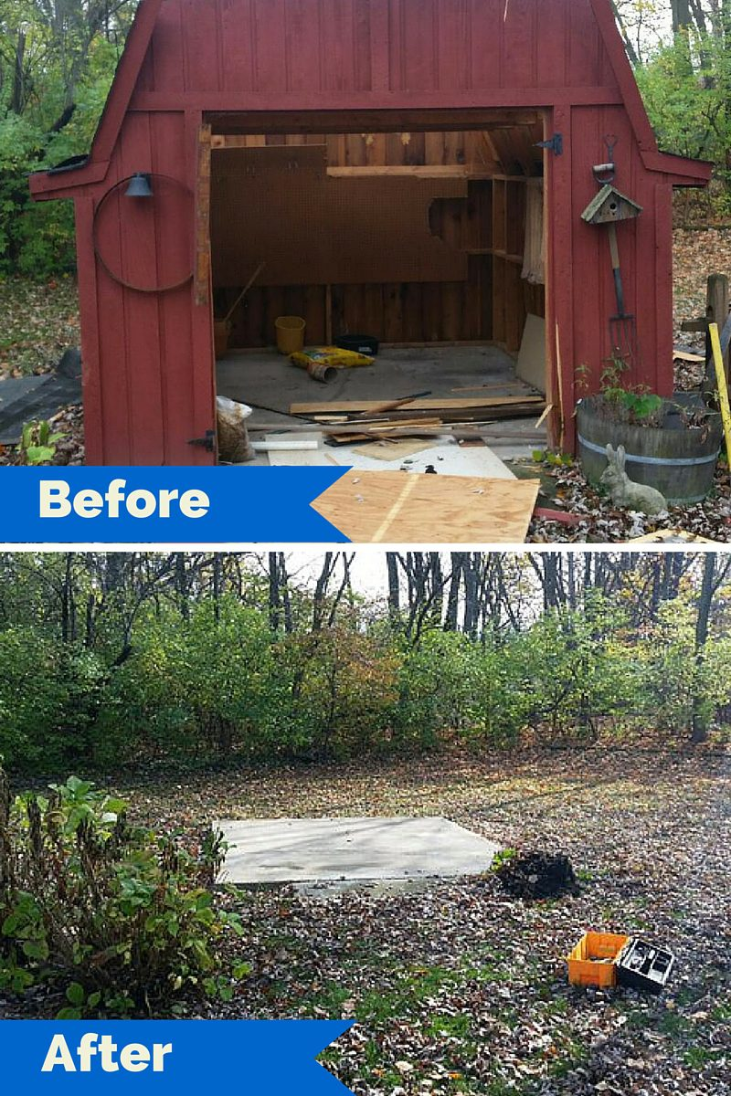 Garden Sheds Indianapolis shed demolition and removal in indianapolis |fire dawgs