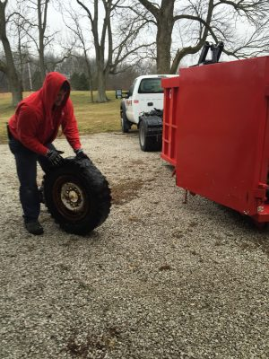 Image of tire removal by Fire Dawgs Junk Removal in Indianapolis