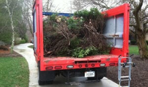 Fire Dawgs truck loaded after brush removal
