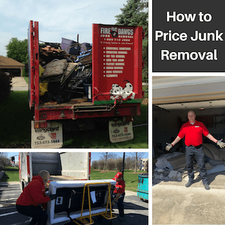 how to price junk removal picture collage