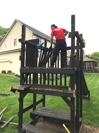 Swing Set Removal Carmel IN