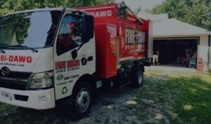 Fire Dawgs truck during service clean out