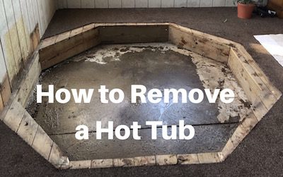 How to Remove a Hot Tub