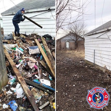before and after of junk cleanout in Anderson IN