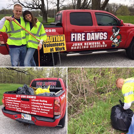 Fire Dawgs Junk Removal Brownsburg participating in Spring Clean Up 2019