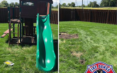 Swing Set Removal in Greenwood