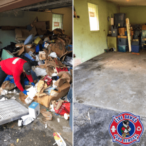 before and after picture of Foreclosure Cleanout Lafayette