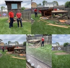 play house removal in Indianapolis before and after picture