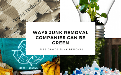 Ways Junk Removal Companies Can Be Green