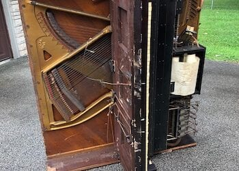 Basement Piano Junk Removal in Indianapolis