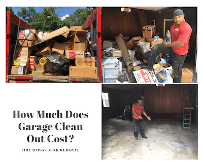 how much does garage clean out cost graphic