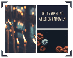 graphic for tips for Being Green on Halloween