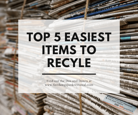 picture of Easiest Items to Recycle