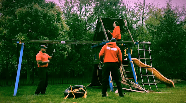Swing Set Removal in Noblesville