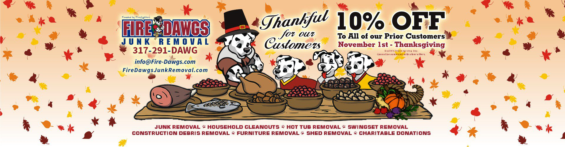fire dawgs junk hauling indianapolis customer appreciation coupon