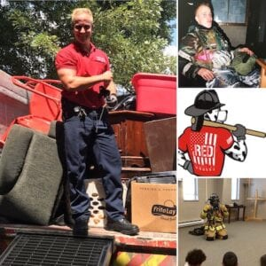 a picture of firefighter junk removal