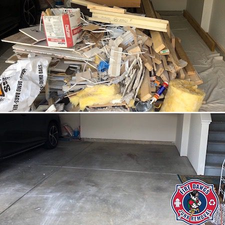 garage clean out fort wayne before and after