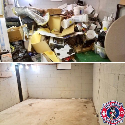 hoarding clean up indianapolis before and after picture