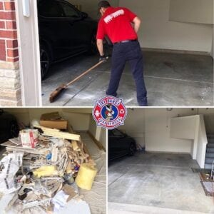 before and after picture of Remodeling Debris Removal Indianapolis