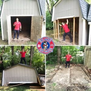 shed removal fort wayne before and after