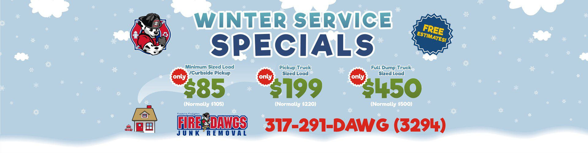 fire dawgs junk removal winter deal