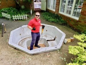 fire dawgs hot tub removal