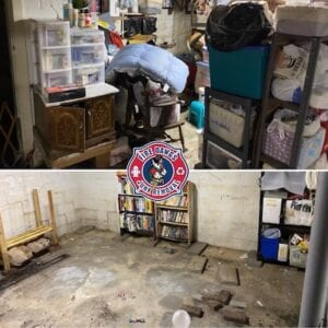 basement cleaning fort wayne before and after