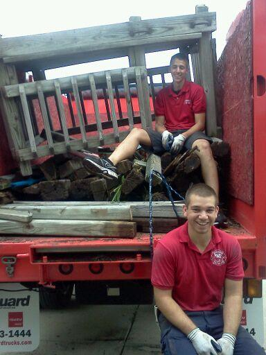 Fire Dawgs providing play set removal services