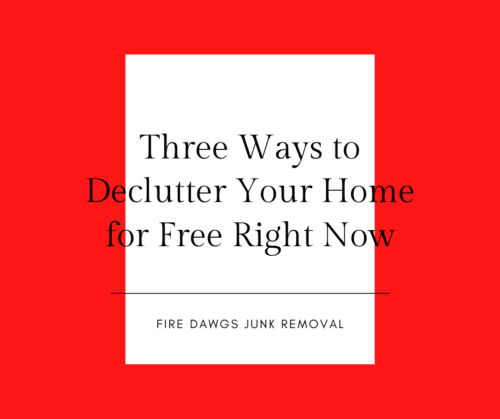 Three Ways to Declutter Your Home for Free