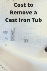 image of a tub that says cost to remove a cast iron tub