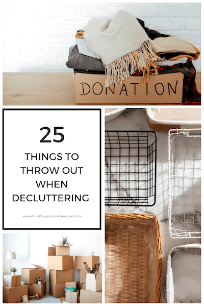 picture of what to throw out when decluttering