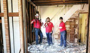 Bloomington demolition team
