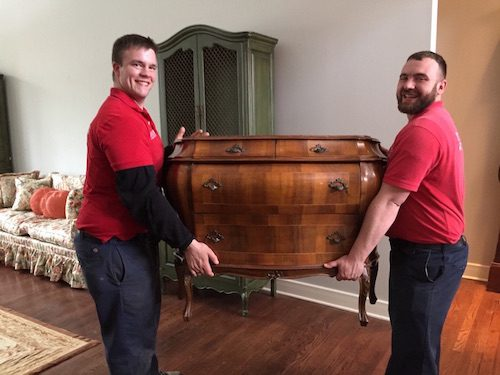 a picture of furniture moving in bloomington
