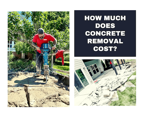 Picture of concrete demo that says How Much Does Concrete Removal Cost