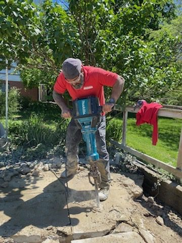this is a picture of concrete removal in fort wayne